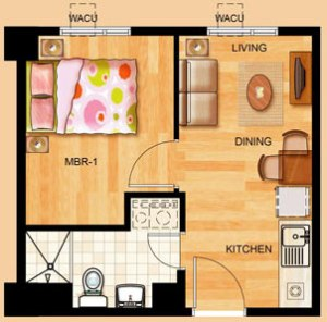 1-bedroom unit at Toledo Tower of Tropicana Garden City in Marikina