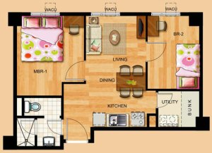 2-bedroom unit at Toledo Tower of Tropicana Garden City in Marikina