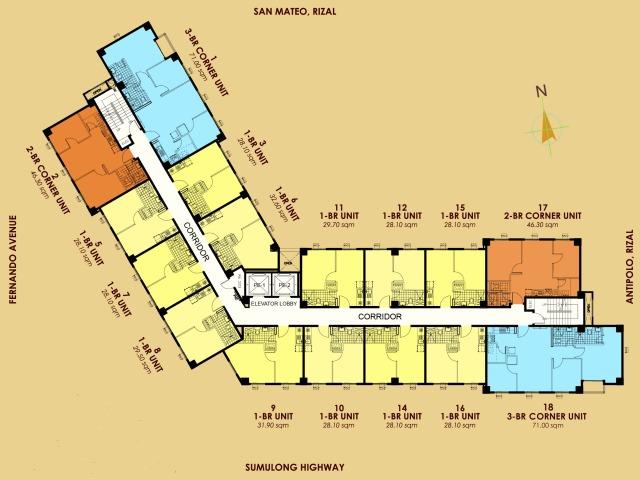 Tropicana Garden City Floor Plan