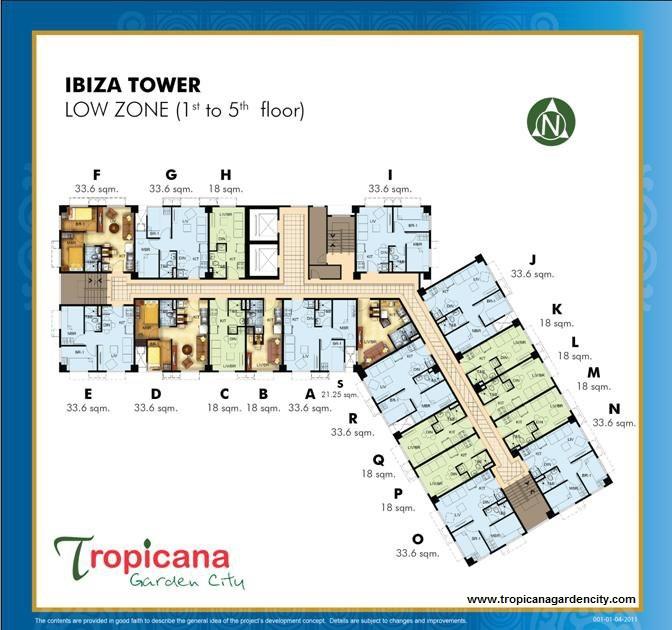 Floor Plan Tropicana Garden City